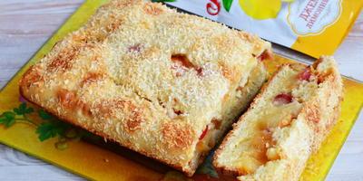 """Пирог """"Студенческий"""" с яблоками и джемом"""