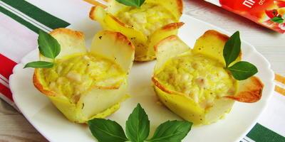 Картофельные корзиночки с курицей, или Когда обычная картошка надоела