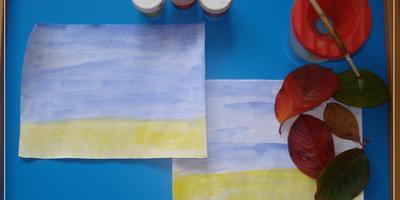 Рамка из природного и бросового материала (для осеннего рисунка)