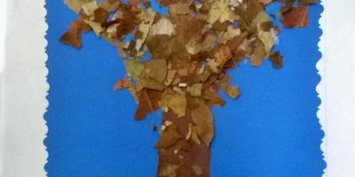 """Аппликация из природного материала """"Осеннее дерево"""""""