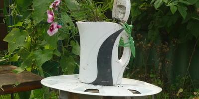 Немного белого дизайна в саду