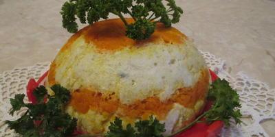 """Торт из рыбы с морковью """"Минтайчик"""""""