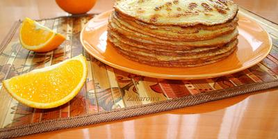 Апельсиновые блинчики: тонкие, сладкие, ванильные...