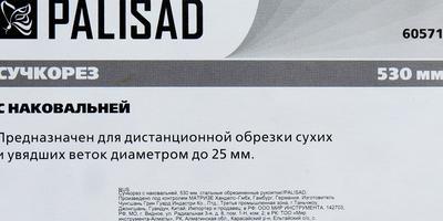 Тестирование сучкореза с наковальней PALISAD. Обрезка клена, калины, шиповника и облепихи