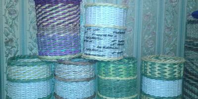 Тоже плетение, только уже для дома