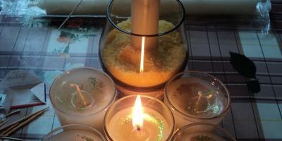 Изготовление декоративных свечей