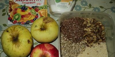 Осеннее диет-меню. Яблочное желе с орехами на десерт