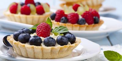 Корзинки-тарталетки с ягодами