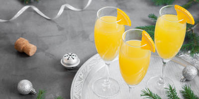 Новогодние коктейли с шампанским. Удивите гостей