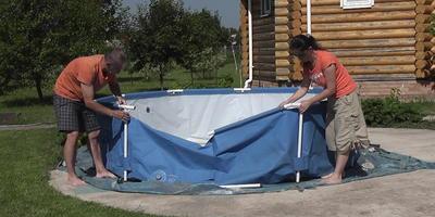 Каркасный бассейн: видео об установке, очистке и нюансах эксплуатации