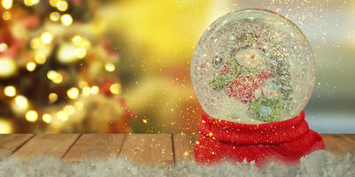 Новогодний мастер-класс: снежный шар с петухом внутри
