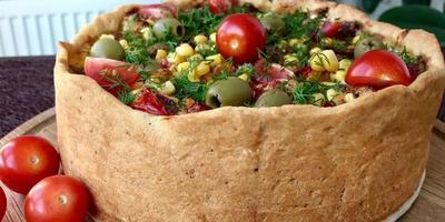 """Пирог """"Овощная корзина"""": рецепт от Ольги Матвей"""