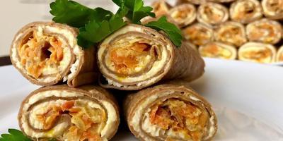 Печёночные трубочки с начинкой: рецепт от Ольги Матвей