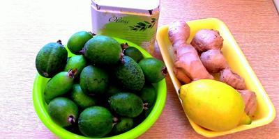Джем из фейхоа с имбирём и лимоном