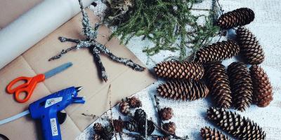 Новогодняя звезда из природных материалов. Для тех, кто устал от рождественских венков