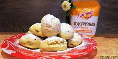 Печенье из кукурузной муки с изюмом
