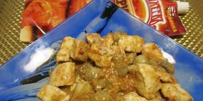 Куриная грудка с шампиньонами в чесночном маринаде Махеевъ
