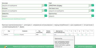 Почему огурцы Кристина F1 от АФ «Поиск» продаются под торговой маркой «Седек»?