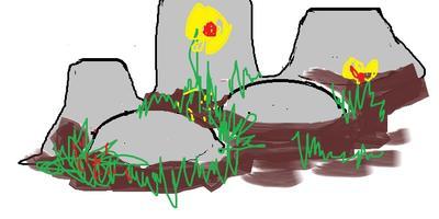 Имитация камней для альпийской горки или рокария