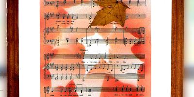 """Декор для дома: панно """"Осенняя мелодия"""""""