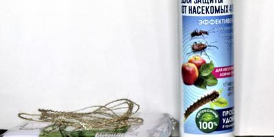 Клей аэрозоль для защиты от насекомых от торговой марки «Грин бэлт». Ловчий пояс