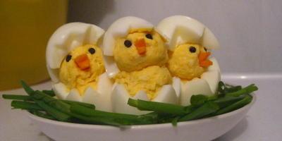 "Закуска из яиц ""Цыплята"""