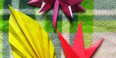 Осенние листья в технике оригами