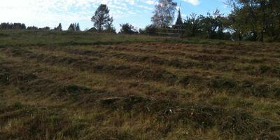 Сенокос в сентябре и деревеньки со своей жизнью