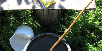 """Водорастворимые гранулы """"Агрикола"""" для овощей.  Вторая обработка баклажанов"""