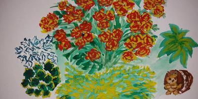 Роза и можжевельник - непостижимое сочетание в обрамлении