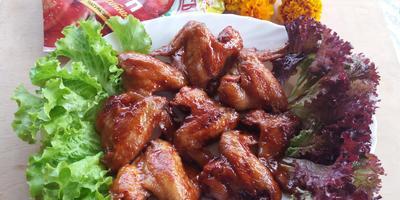 Крылышки в сладко-пряном маринаде с томатным кетчупом «Махеевъ» - просто объедение