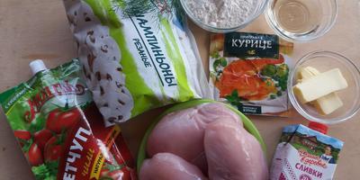 Фрикасе из куриного филе – вариация на тему кетчупа чили «Махеевъ»