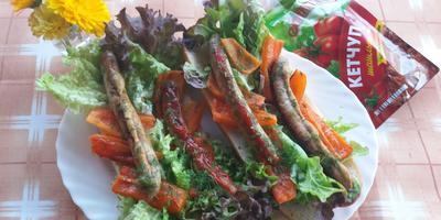 Колбаски из индейки в багете с кетчупом шашлычный «МахеевЪ» … и не только