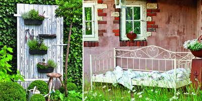 Притяжение старины: оформляем участок в винтажном стиле
