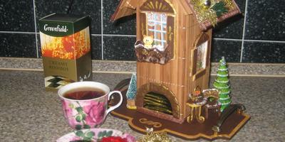 """Новогодний мастер-класс """"Чайный домик для новогоднего стола"""""""