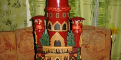 Сказочный замок из бросового материала
