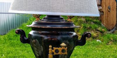 Настольная лампа из старого самовара: делаем своими руками