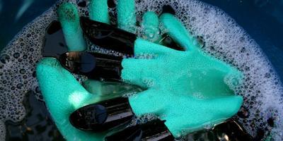 Тестирую перчатки с когтями. Тест 2: стирка перчаток