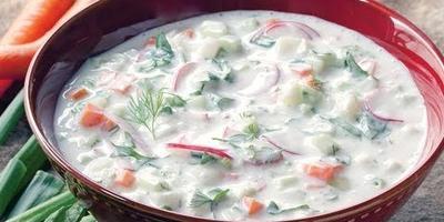 Холодный суп Окрошка на квасе