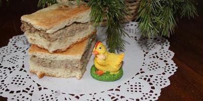Староновогодний мясной пирог