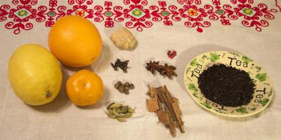 Пряный новогодний чай