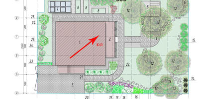 Помогите подкорректировать эскиз ландшафтного дизайна участка