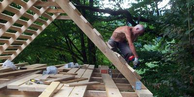 Как мы строили курятник на даче