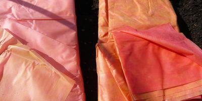 Красно-желтый укрывной материал: результаты применения