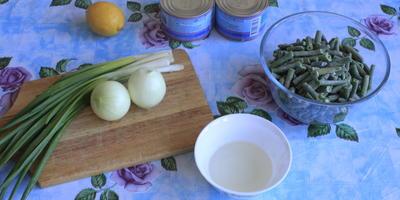 Салат с тунцом и стручковой фасолью