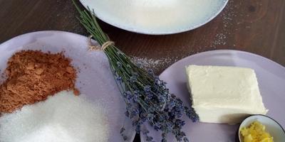 Шоколадное печенье с мёдом, лавандой и цедрой лимона и лимонад из щавеля с сиропом из цветков бузины
