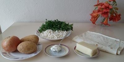Трубочки с творогом или картофелем....
