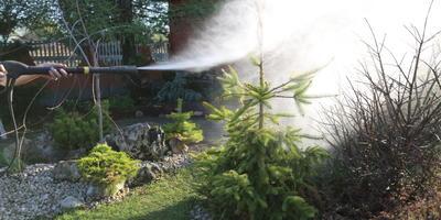Необычное применение мойки высокого давления Karcher в качестве опрыскивателя для сада