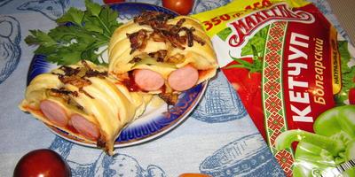 Плетёный хот-дог
