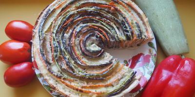 """Пирог """"Овощное трио"""" - это вкусно, полезно и на вид красиво!"""